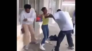Girl vs  Guy  dude KO'ed