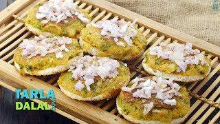 ओपन मसाला टोस्ट - Open Masala Toast by Tarla Dalal