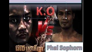 Top 10  winner Phal Sophorn Vs Thai by K.O| Khmer Boxing 2016