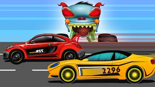 Car Race Scary | Haunted House Monster Truck | Episode 11
