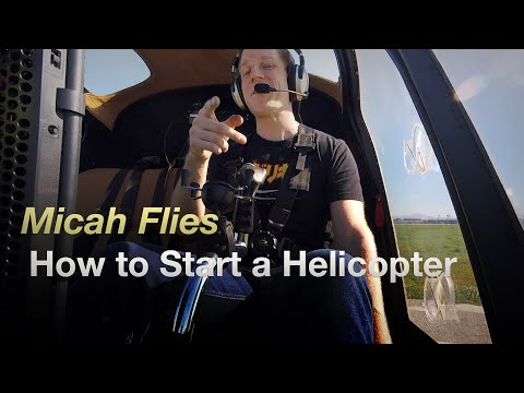 Helicopter Startup And Takeoff Enstrom 280C
