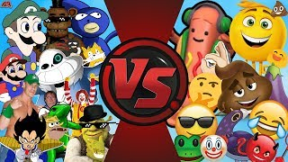 MEMES vs EMOJIS! (MLG and YouTube Poop vs The Emoji Movie) Cartoon Fight Club Bonus Episode 30!