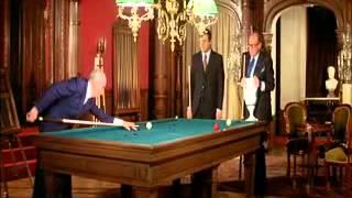 Louis De Funes playing Billiards