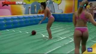 Brazilian Women's Slip-N-Slide Soapy Soccer Outdoor inflatable water football games