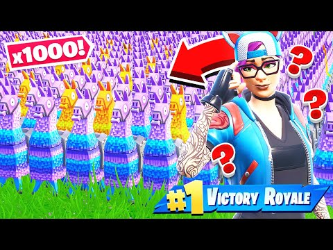 1000 LLAMA Random LOOT Challenge NEW Creative Mini Game in Fortnite Battle Royale