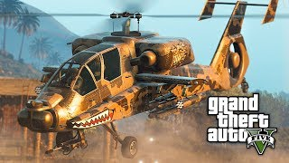 GTA 5 - NEW $4,500,000 HUNTER ATTACK HELICOPTER!! (GTA 5 Online Hunter DLC Update)