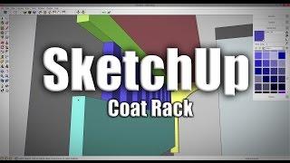 SketchUp: Coat Rack - 226