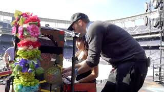 Coldplay inviting a fan to soundcheck with them (San Diego)