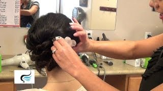 Wedding Updo Hairstyles With Flowers Tutorial