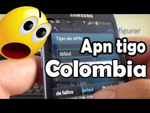 como configurar apn tigo colombia para Internet WEB, WAP y MMS en android