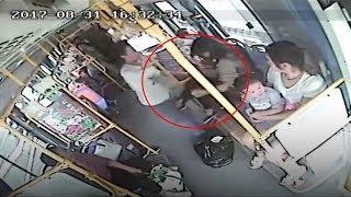 Female bus passenger kicks alleged sex assaulter 'where it hurts'
