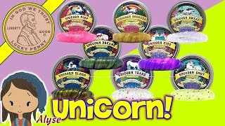 Mythical Slyme Unicorn Putty Collection! Over 7 Putties!
