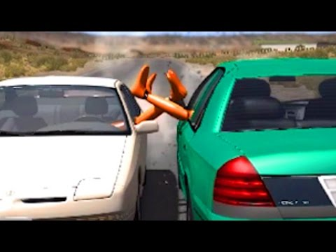 BeamNG drive - Legs out the Window Car Crashes
