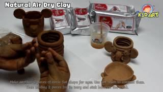 Kid Art : Natural Clay: Elephant stationery holder tutorial