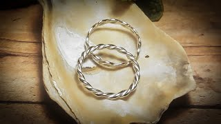 How To Make Twisted Silver Rings