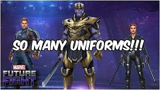 FIRST LOOK AT AVENGERS ENDGAME UNIFORMS! (Endgame Update) - Marvel Future Fight