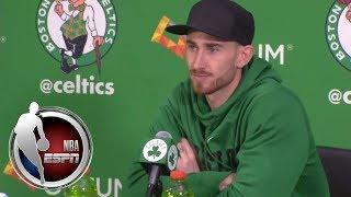Gordon Hayward gives leg injury update in Celtics' press conference | NBA on ESPN
