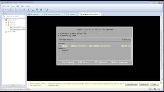VMware ESXi server and vCenter installation on the VMware workstation - demo - no voice