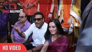 Jackie shroff With Padmini Kolhapure At Pandit Pandharinath Kolhapure Marg Announcement