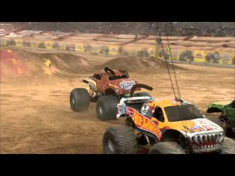 Monster trucks crashes and carnage