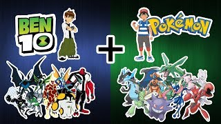 Amazing Top 25 Cartoon Characters Fusion - Pokemon + Ben 10.