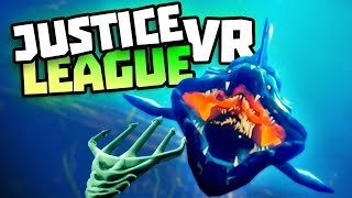 BE BATMAN, SUPERMAN, WONDER WOMAN IN VR - Justice League VR Gameplay - VR HTC Vive
