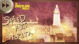 Regalia Early Concept Art - KRITA SPEED ART and VLOG | The Underland Project - EPISODE 3