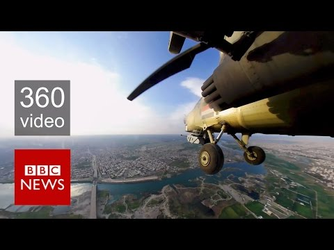 Xxx Mp4 Mosul Fight Against ISIS From The Sky In 360 Video BBC News 3gp Sex