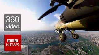 Mosul: Fight against ISIS from the sky in 360 video - BBC News