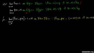 حد ۰۶ - اثبات قانون حد جمع دو تابع