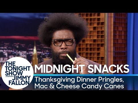 Midnight Snacks: Thanksgiving Dinner Pringles, Mac & Cheese Candy Canes