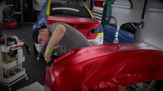 Satin Red Chrome BMW M3