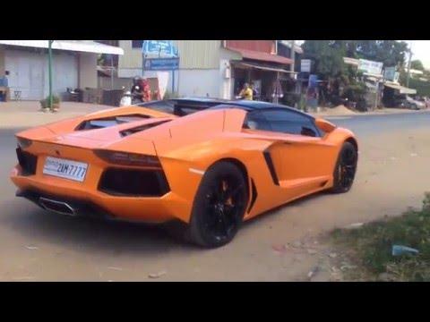 Lamborghini Aventador in Phnom Penh Cambodia 2015