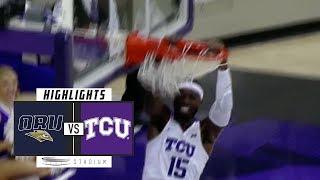 Oral Roberts vs. No. 20 TCU Basketball Highlights (2018-19) | Stadium