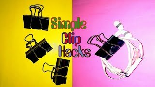 Five Simple Binder Clip Hacks