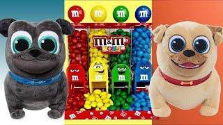 Disney Jr. PUPPY DOG PALS Mission: Rolly Bingo Hissy Cat A.R. F. Robot Learn Colors M&M