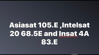 Asiasat 7 with Intelsat 20  with Insat 4a