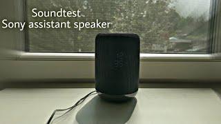 Homepod!!? Sony Google Assistant speaker soundtesting..