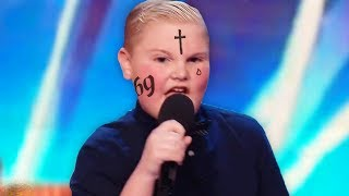 12 Year Old Starts Rapping To Eminem – Simon Cowell Can