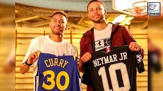Neymar Praises Messi & Ronaldo While With Basketball Star Steph Curry