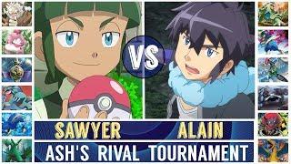 Sawyer vs. Alain (Pokémon Sun/Moon) - Ash's Rival Tournament/Quarterfinal