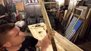 DIY Impromptu folding beer pong table