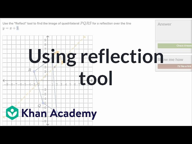 Using reflection tool | Transformations | Geometry | Khan Academy