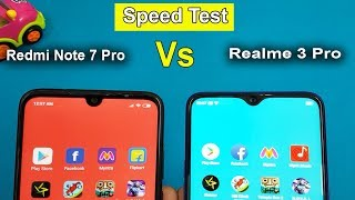 Redmi Note 7 PRO Vs Realme 3 Pro  Speed Test / Comparison || AnTuTu Benchmark Scores