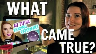 MY PSYCHIC READING: WHAT CAME TRUE?   VLOGMAS #2