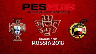 Portugal vs Spain Russia World Cup championship Gameplay PES 2018 HD