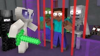 Monster School: ALIENS VS MONSTERS   Alien Invasion - Minecraft Animation