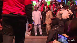 Raila entertained during the Luo Night Event 2015