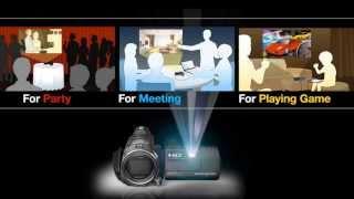 Sony Projector Handycam® Camcorder - External Input (HD)