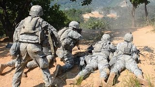 US Army in South Korea - Combat Training & Live Fire Range